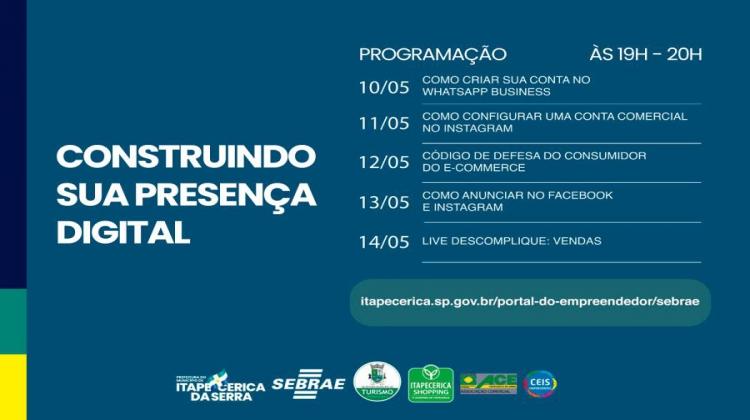 Notícia: Secretaria de Turismo e Sebrae promovem palestras na semana do empreendedor