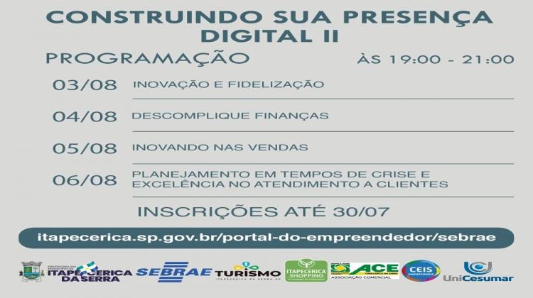 Notícia: CONSTRUINDO SUA PRESENÇA DIGITAL II